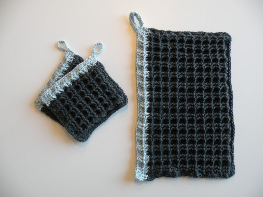 Grydelapper og håndklæde til børn