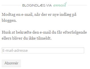 Få blogindlæg via email