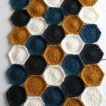 Hæklet tæppe - Prøve på farver 1