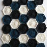Hæklet tæppe - Prøve på farver 2