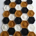 Hæklet tæppe - Prøve på farver 3