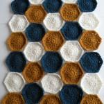 Hæklet tæppe - Prøve på farver 4