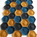 Hæklet tæppe - Prøve på farver 5