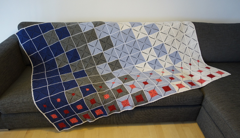 Evighedstæppet 1 - Hæklet tæppe