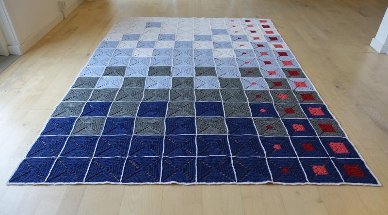 Evighedstæppet 2 - Hæklet tæppe