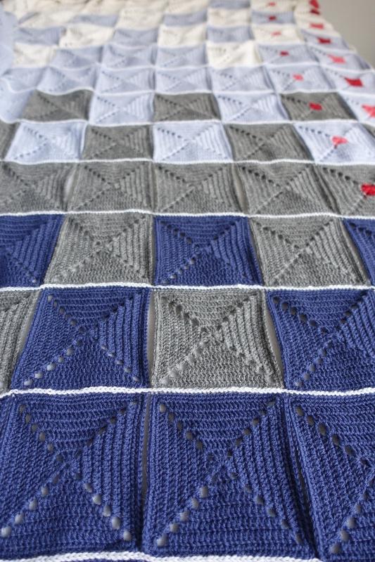 Evighedstæppet - Sammenhækling - Hæklet tæppe