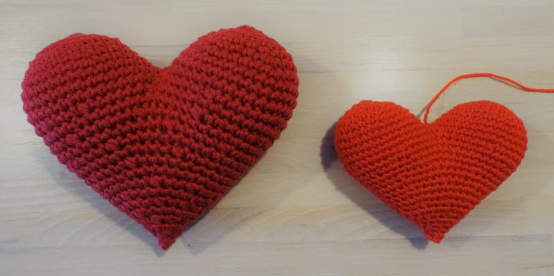 Hæklet hjerte - version 1
