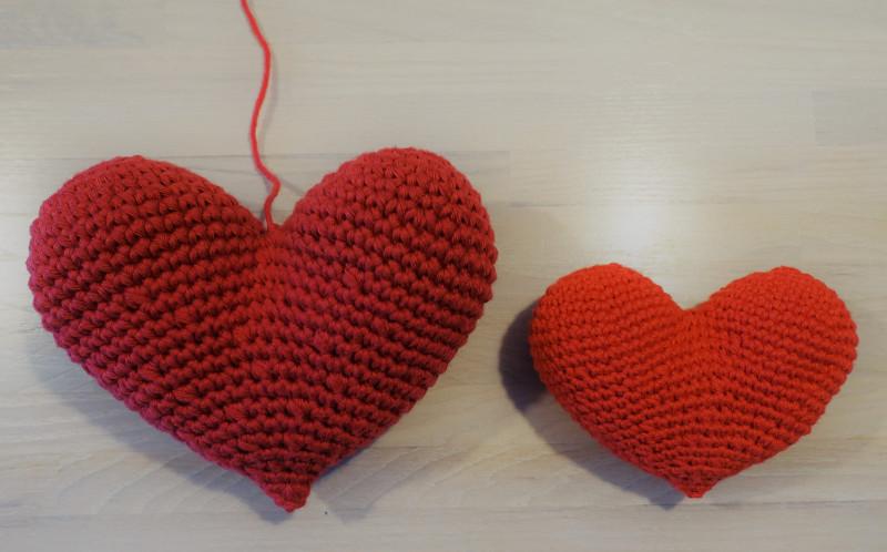 Hæklet hjerte - version 2
