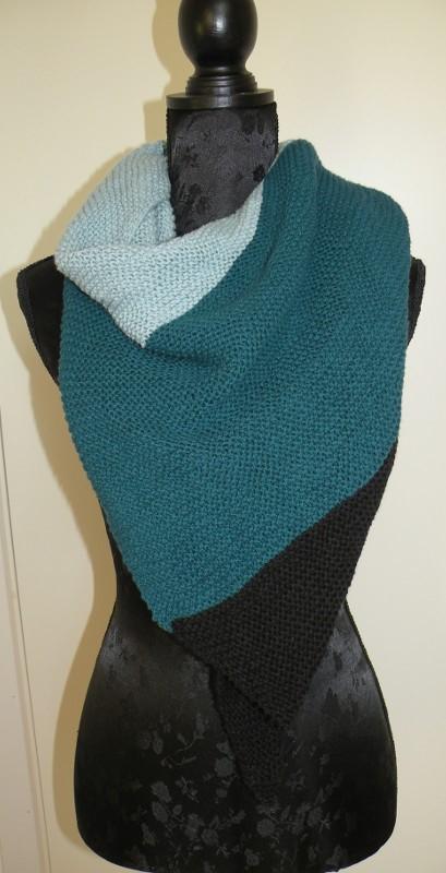 Vinkelsjalet - strikket sjal